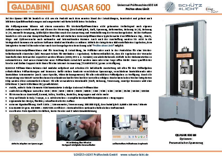 PDF QUASAR 600 kN