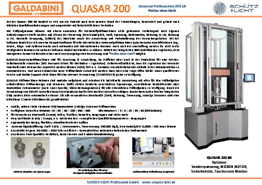 PDF QUASAR 200 kN